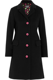 Boutique Moschino Embroidered wool and cashmere-blend coat