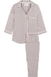 DKNY Modern Attitude striped stretch-modal jersey pajama set