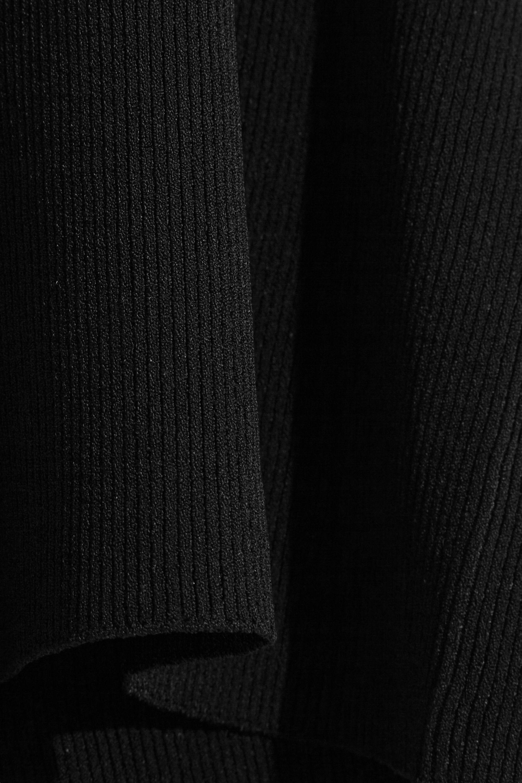Jil Sander Open-back ribbed-knit turtleneck sweater