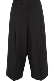 Cropped wool and mohair-blend wide-leg pants