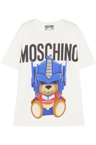 Moschino - Oversized Printed Cotton-jersey T-shirt - White