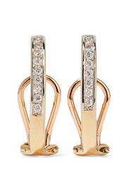 Ana Khouri Mina 18-karat gold diamond earrings