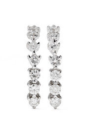 Ana Khouri Time 18-karat white gold diamond earrings