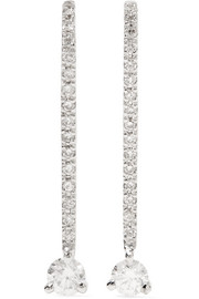 Ana Khouri Lena 18-karat white gold diamond earrings