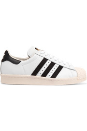 adidas Originals Superstar suede-trimmed leather sneakers