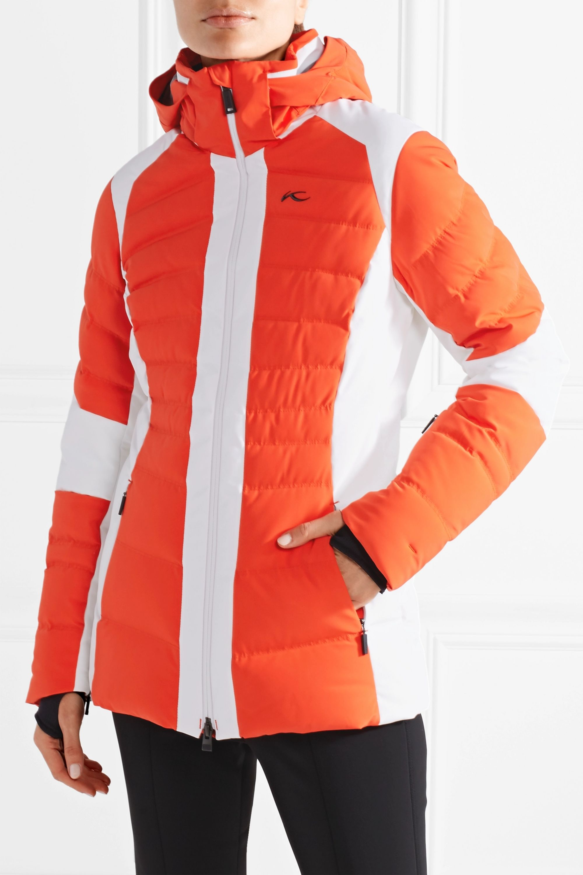Kjus Duana two-tone quilted shell down jacket