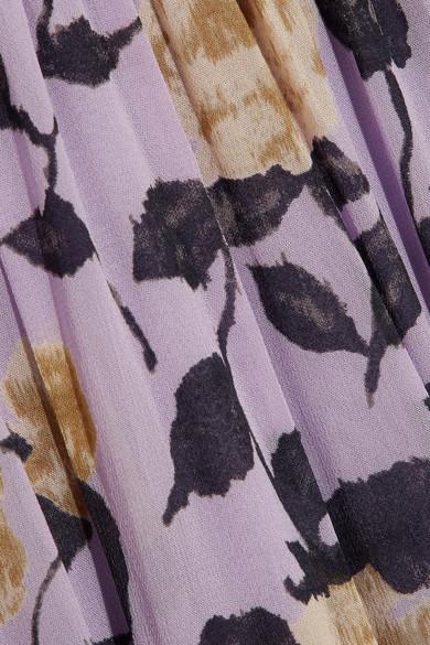 3de4853e GANNI | Carlton pussy-bow floral-print georgette maxi dress | NET-A ...
