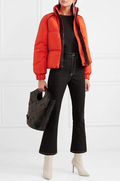 7365f08d6bd0d GANNI | Wool felt-trimmed quilted shell down jacket | NET-A-PORTER.COM