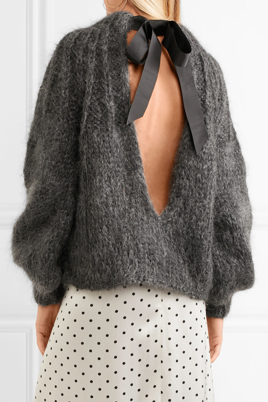 GANNI Julliard open-back mohair and wool-blend sweater