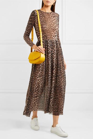6bb3aab1528 Tilden leopard-print stretch-mesh maxi dress