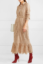 Jerome belted lace shirt dress