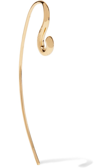 Hook small gold-dipped earring