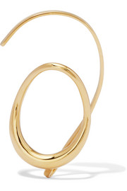 Caracol gold-dipped ear cuff