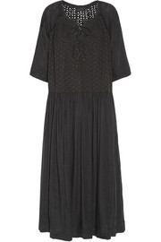 Romy voile and broderie anglaise midi dress