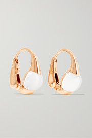 M'ama Non M'ama 18-karat gold topaz earrings
