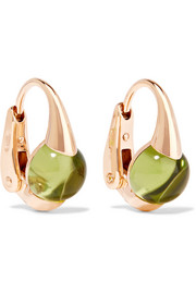M'ama Non M'ama 18-karat rose gold peridot earrings