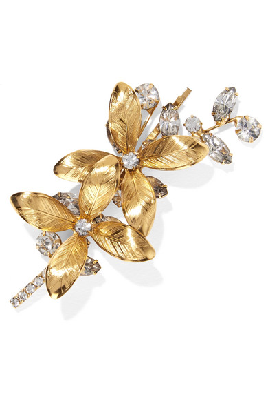 Jennifer Behr - Layla Bobby Gold-plated Swarovski Crystal Hair Slide