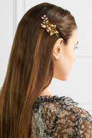 Layla Bobby gold-plated Swarovski crystal hair slide