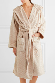 Rex hooded cotton-terry robe