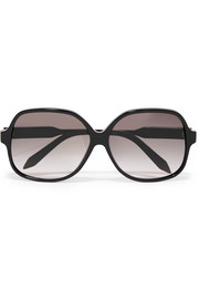 Victoria Beckham Classic square-frame acetate and gold-tone sunglasses