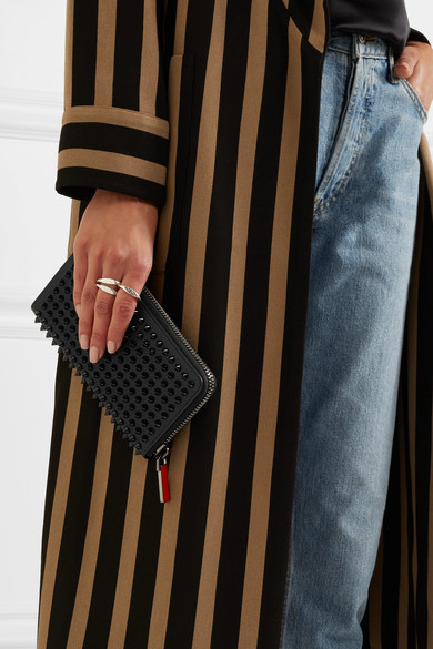 CHRISTIAN LOUBOUTIN Panettone Spiked Textured-Leather Wallet