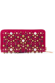 Panettone embellished patent-leather continental wallet