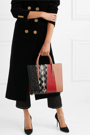 Christian Louboutin Paloma medium leather, watersnake and calf hair tote