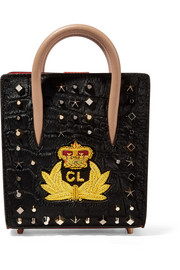Christian Louboutin Paloma nano embellished calf hair and leather tote