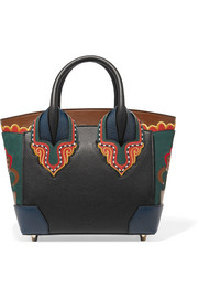 Christian Louboutin Eloise small embroidered textured-leather tote