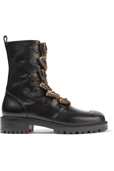KLOSTER SHEARLING-LINED LEATHER BOOTS