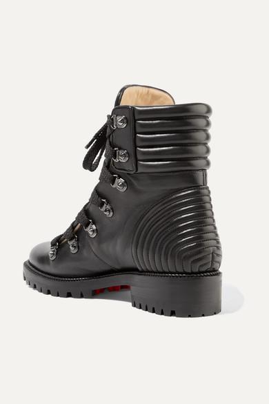 Christian Louboutin Mad Ankle Boots aus gestepptem Leder mit Nieten