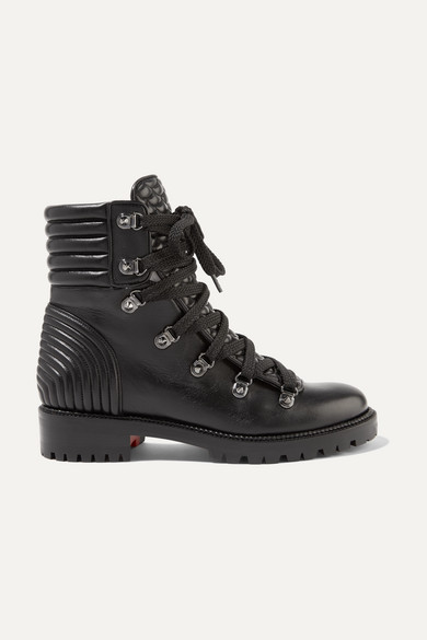 9b61884a9207 Christian Louboutin. Mad spiked quilted leather ankle boots