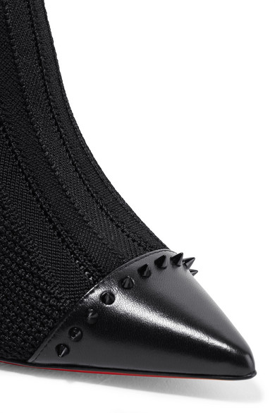 010a162825f5 Christian Louboutin. Dovi Dova 100 studded leather-trimmed stretch-knit sock  boots. £815. Zoom In