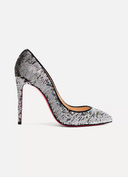 Christian Louboutin Pigalle Follies 100 sequined canvas pumps