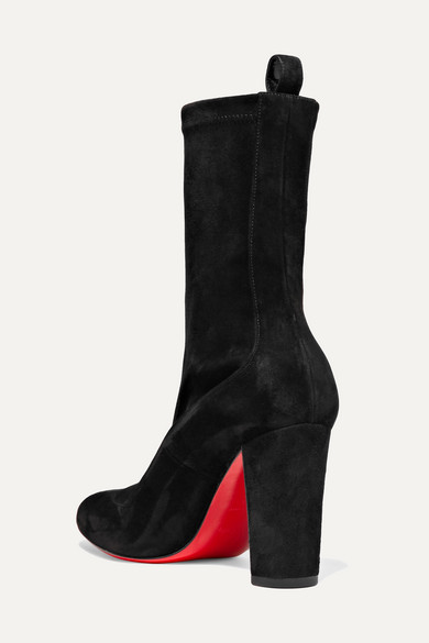 Christian Louboutin Boots Gena 85 suede ankle boots