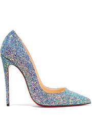 So Kate Dragonfly 120 glittered leather pumps