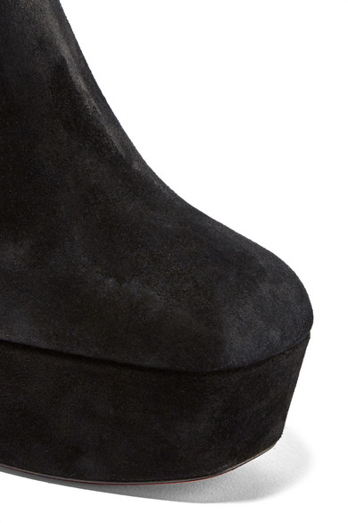Louboutin Protorlato 110 Ankle Boots Made Of Suede With Plateau