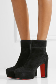 Christian Louboutin Protorlato 110 suede platform ankle boots