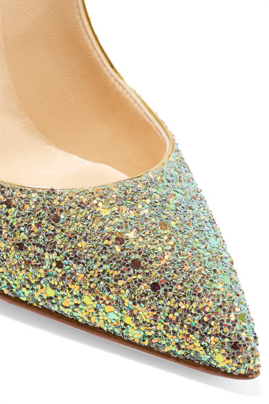 online store ecb97 a1e58 Pigalle Follies Dragonfly 100 glittered leather pumps