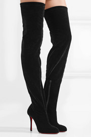 Christian Louboutin Classe stretch-velvet over-the-knee boots