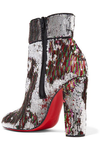 buy online 557b2 2e8f3 Moulamax 100 sequined leather ankle boots