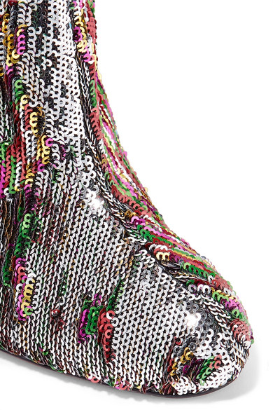 huge discount 090fa 8193b Christian Louboutin | Moulamax 100 sequined leather ankle ...