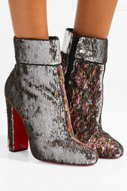 Moulamax 100 sequined leather ankle boots