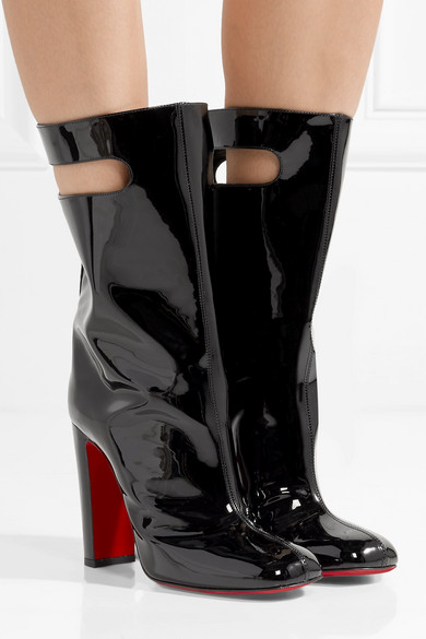 f5fa9e8f972 Christian Louboutin | Bag Bootie 100 patent-leather boots | NET-A ...