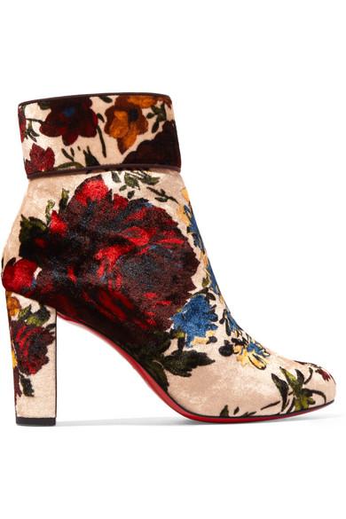 official photos fd9d5 27d3c Moulamax 85 floral-print velvet ankle boots