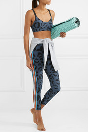 Dance printed stretch sports bra