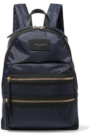 Marc Jacobs Biker leather-trimmed shell backpack