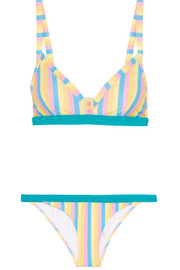 Fizz The Fruit Tingle striped triangle bikini