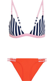 Rye Splosh striped triangle bikini
