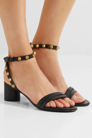 Balenciaga Studded textured-leather sandals